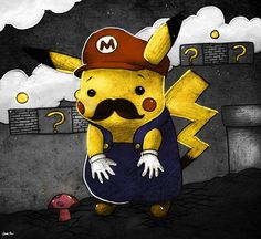 Pikachu x Mario