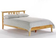 Thyme Bed pictured in Natural Finish. Available at The Mattress Lot- Portland, OR
