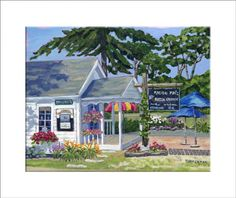 """""""Malibu Moos"""" reproduction print of an acrylic painting by Barb Timmerman."""