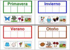MATERIALES - Las estaciones del año.  Conjunto de actividades sobre las estaciones del año.  http://arasaac.org/materiales.php?id_material=1058