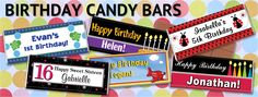 Personalize these delicious candy bars for a favorable treat that everyone will go crazy for. Give them to your guests at any special event and make them smile.