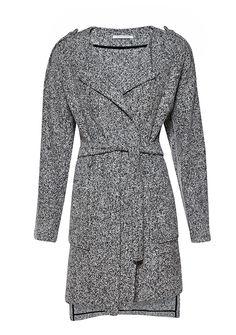 Sweter - płaszcz Grey