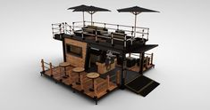 Container bistro / coffee shop concept by Universal Container Services Ltd. Container Coffee Shop, Container Shop, Container Home Designs, Shipping Container Restaurant, Shipping Container House Plans, Coffee Shop Bar, Coffee Shop Design, Kiosk Design, Cafe Design