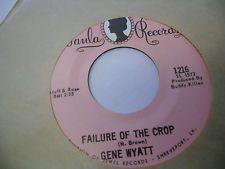 Jean Wyatt Milk and Honey/Failure of The Crop 45 RPM Paula Records EX