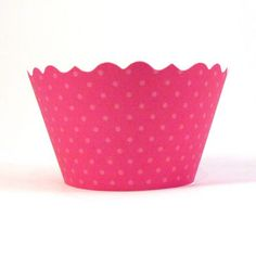 Hot Pink Cupcake Wrapper wrappers www.bellacupcakecouture.com $7.99 includes 12
