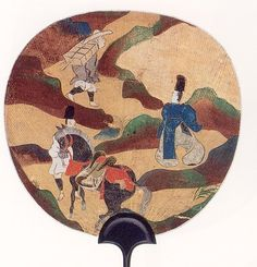 尾形光琳  Ogata Korin 蔦の細道図団扇