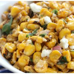 Spicy Roasted Corn & Feta Salad Recipe - Key Ingredient