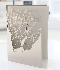 Your Wedding Covered for your perfect wedding invitation inspiration. Laser Cut Invitation, Laser Cut Wedding Invitations, Invitation Card Design, Wedding Stationary, Wedding Invitation Cards, Wedding Cards, Wedding Gifts, Protea Wedding, Safari Wedding
