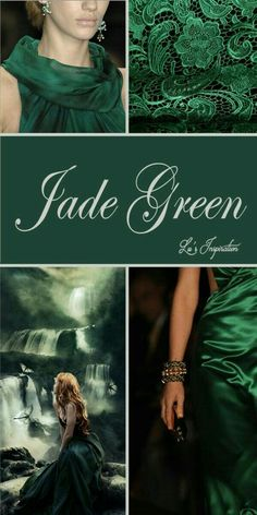 "Hello Ladies Let's pin this color board of "" JADE GREEN "" Thank green color where are you - Green Things Mood Colors, Green Colors, Jade Green Color, World Of Color, Color Of Life, Color Trends, Color Combos, Yoga Studio Design, Color Collage"