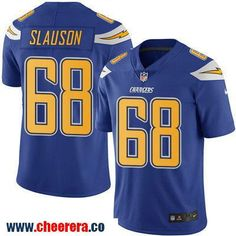Men's San Diego Chargers #68 Matt Slauson Royal Blue 2016 Color Rush Stitched NFL Nike Limited Jersey