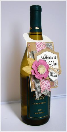 Love the idea of adding a bottle tag and this one's so cute