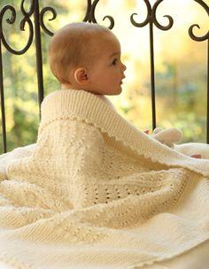 Детское одеяло от Drops Design вязаное спицами и крючком