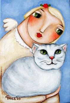 Angel w/ White Cat