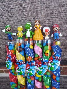 super mario  bros birthday party favors by angilee123 on Etsy, $15.00
