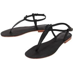 Cocobelle Sophie Sandals ($104) ❤ liked on Polyvore featuring shoes, sandals, flats, black, sandals - flat, snakeskin flat sandals, black flat shoes, flat pumps, black shoes and snakeskin flats