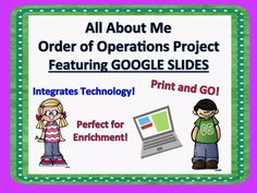Are you in need of an enrichment activity? Are you looking for something to keep the kids engaged while you are meeting with small groups? Are you looking to integrate technology? LOOK NO FURTHER!!! This project is perfect for enrichment, engaging while you meet with other students and integrates technology!