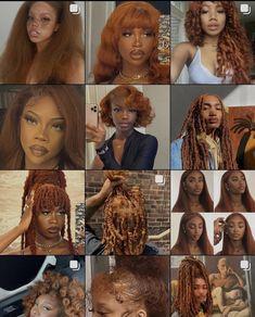 Ginger Hair Color, Hair Color For Black Hair, Hair Colour, Dyed Natural Hair, Natural Hair Styles For Black Women, 4c Hair, Curly Hair Dye, Dyed Hair, Aesthetic Hair