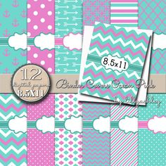 Binder Cover Printables Pack of 12 with by LillyAshley on Etsy for planners recipe binders school binders