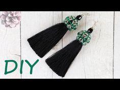 МК: Серьги кисточки из ниток своими руками. Шапочка для кисточек из бусин и бисера. TUTORIAL: Beautiful Tassel Earrings with Beaded caps.