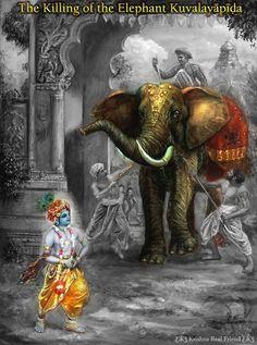 Nitai Gaura Krishna Center Batam Kepulauan Riau Indonesia: Krishna - The Killing of the Elephant Kuvalayapida...