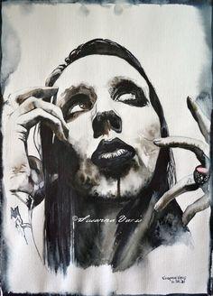 Dark III - Marilyn Manson by Susanna Varis