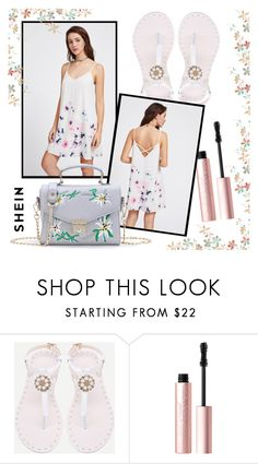 """SheIn 2/31"" by goldenhour ❤ liked on Polyvore featuring Too Faced Cosmetics"