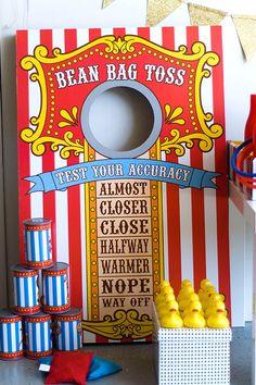 Bean bag toss from Oriental Trading
