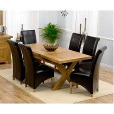 Avignon Oak Furniture 160cm Extending Dining Table & Barcelona Set