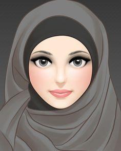 Funny , but , bitter Truth A. Girly M, Beautiful Muslim Women, Beautiful Hijab, 3id Adha, Love Cartoon Couple, Girl Cartoon, Crown Illustration, Islam Women, Anime Muslim