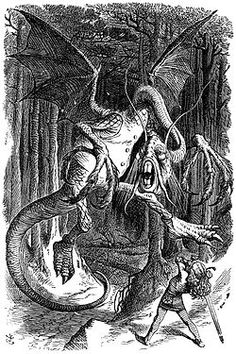 """""""Jabberwocky""""    'Twas brillig, and the slithy toves  Did gyre and gimble in the wabe;  All mimsy were the borogoves,  And the mome raths outgrabe."""