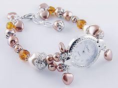 relojes mujer finos - Buscar con Google Jewlery, Jewelry Bracelets, Jewelry Watches, Ring Bracelet, Bracelet Watch, Stylish Watches, Artisanal, Fashion Watches, Clock