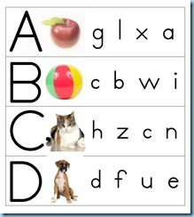 Clothespin ABCs - use it with clothes pins OR as a worksheet where you circle the baby letter.