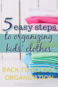 Organizing kids clothes -- Get back-to-school ready with my 5 Easy Steps to all Things Clothes! Kids Clothes Organization, Back To School Organization, The New School, New School Year, Kids Up, Big Kids, Crossed Fingers, School Shopping, Back To School Outfits