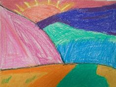 My First Graders are studying Fauvism. To explore this super fun art movement, I taught my students about the landscape. Anatomy of a Landscape I teach my kids that a landscape is comprised of thre...
