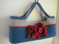 hand knit and felted wool handbag http://janesdesign.blogspot.com/p/shop.html