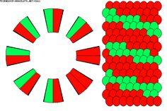 K661 - friendship-bracelets.net 16 strands 2 color