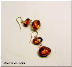 Ohrhänger - Ostseegold -  leuchtende  Bernsteinohrhänger - ein Designerstück von Dream-Colliers bei DaWanda