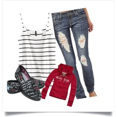 highschool outfit 14, created by tayrobison on Polyvore
