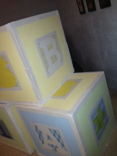 Baby Blocks 2 foot square cubes - Large