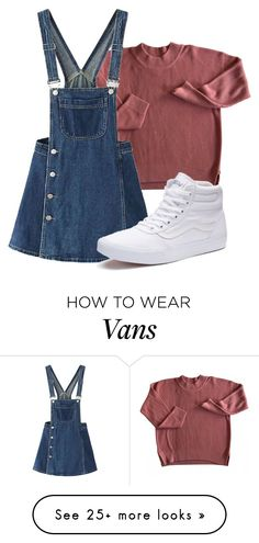""""""""""" by sydthekyd01 on Polyvore featuring WithChic and Vans"""