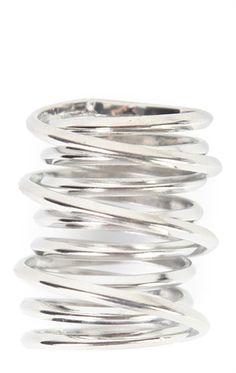 Deb Shops Swirled Metal Ring $6.00