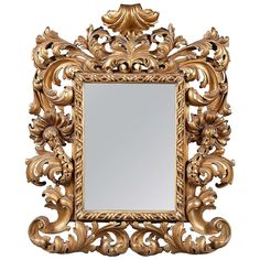 An Intricate 19th Century French Giltwood Rococo Style Vanity or Wall Mirror 1
