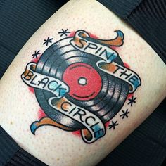 Music Tattoo #records #album #vinyl #americantraditional #inked