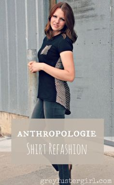 Anthropologie Shirt Refashion