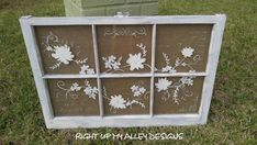 Old Windows Painted, Painted Window Art, Old Window Panes, Wooden Windows, Vintage Windows, Window Frames, Painted Screens, Antique Windows, Window Wall
