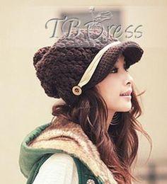 Impressionnant coréen de fils de laine Bonnet: Tbdress.com
