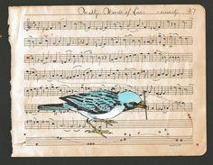Stringing Notes Together: Original Art on Antique Sheet Music