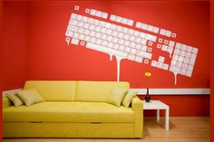 creative office wall design ideas to increase productivity. Office Wall Design, Office Wall Decals, Modern Office Design, Office Walls, Office Interior Design, Office Interiors, Office Designs, Office Paint, Office Spaces
