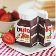 Nutella jar cake