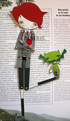 Assembled Articulated Paper Doll